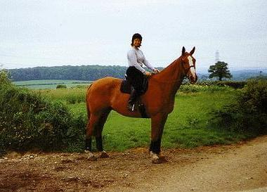 Elena riding in Hampshire